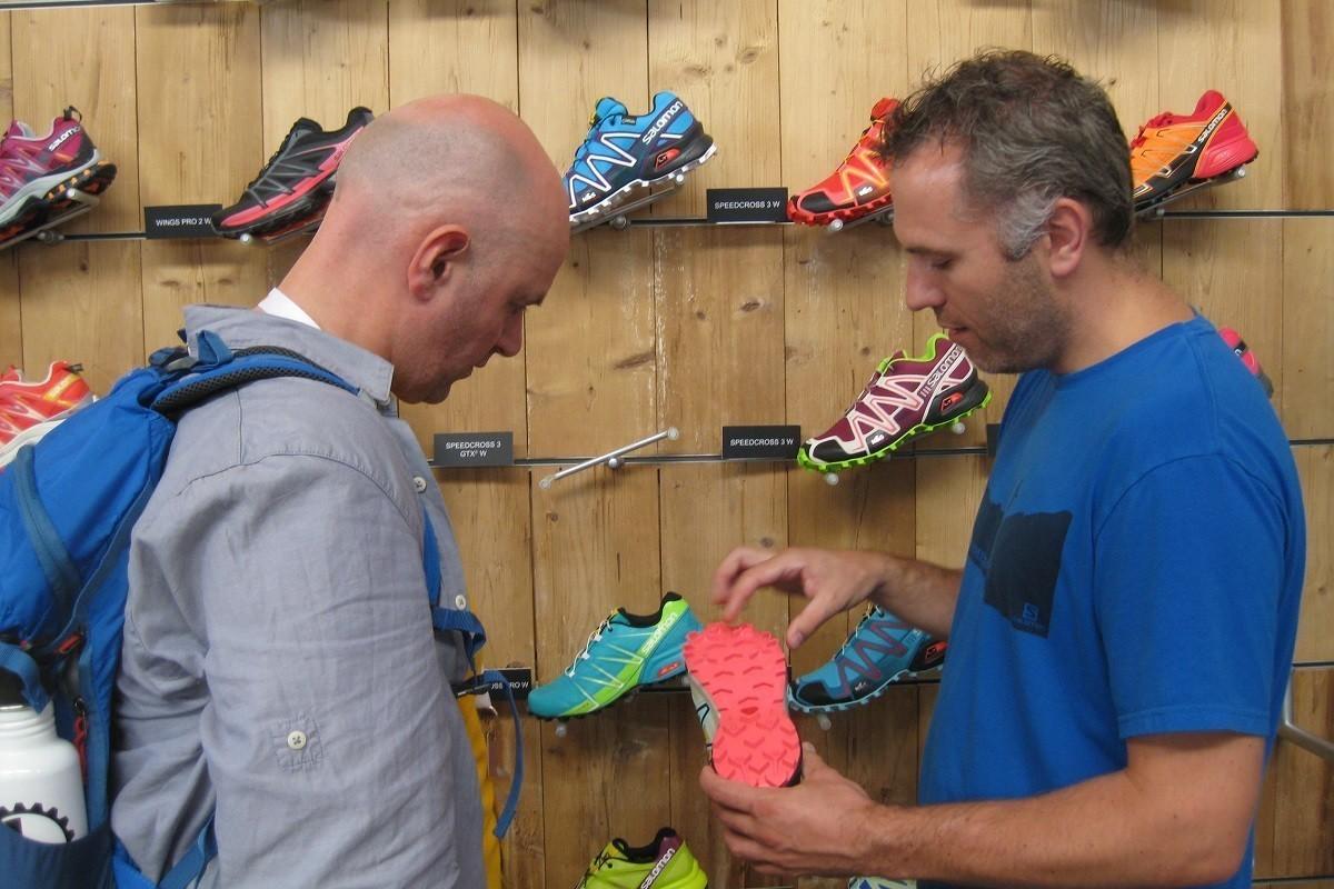 Senior Sales Executive Salomon Footwear, Vincent Veltman, explains
