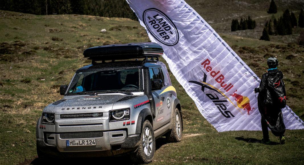 De Land Rover Defender als assistent tijdens de Red Bull X-Alps adventure race